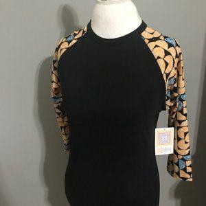 LuLaRoe NWT Baseball Style 3/4 Sleeve Top Size XS